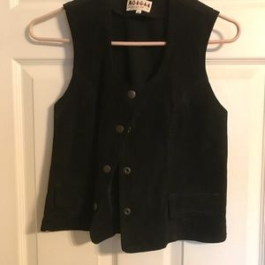 Ladies black suede vest